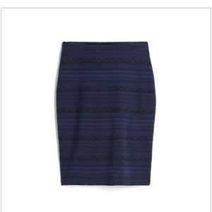 RD Style M Navy Blue Printed Pencil Skirt